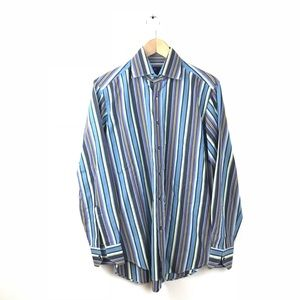 ETRO Milano Button Down Shirt Stripe Multi 39